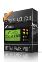 Metal Pack Vol.1 for AXE-FX II - ChopTones