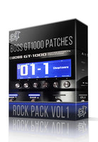 Rock Pack vol.1 for Boss GT-1000 - ChopTones