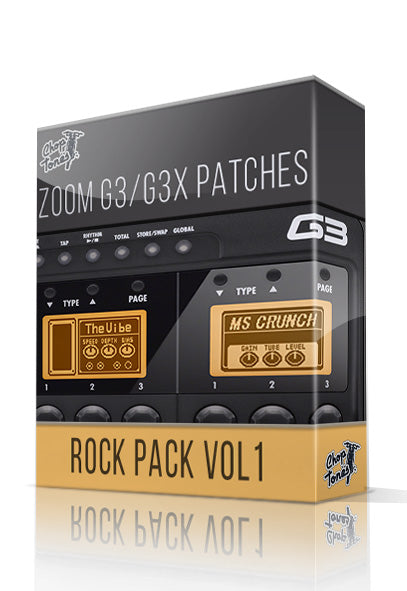 Rock Pack vol.1 for G3 / G3X - ChopTones