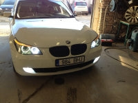 BMW 5 Series xenon angel eyes