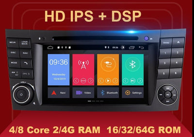 DSP 4G 64G 2 din Android 10 Car DVD Multimedia For Mercedes Benz E-class W211 E200 E220 E300 E350 E240 E270 CLS CLASS W219 Radio