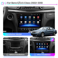 Android 10.0 CarPlay Car Radio Multimedia Video Player Auto Stereo GPS For Mercedes Benz W211 2002-2010 2 din dvd