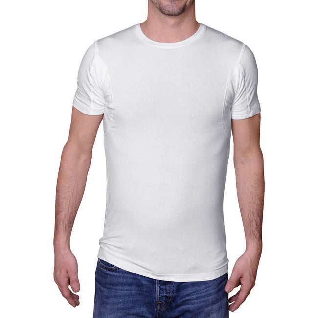 Men's Back Sweat Proof Undershirt for Back Sweating (Crew Neck)