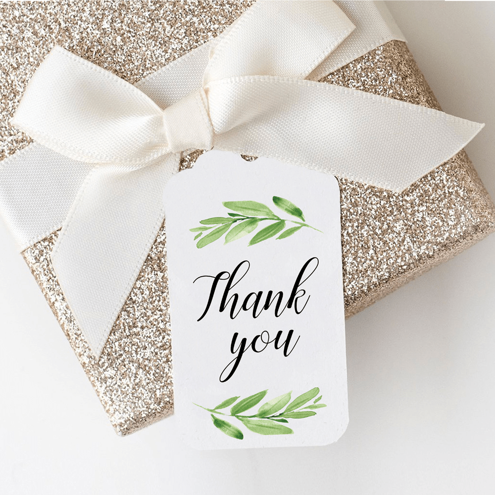green leaf bridal shower tags template