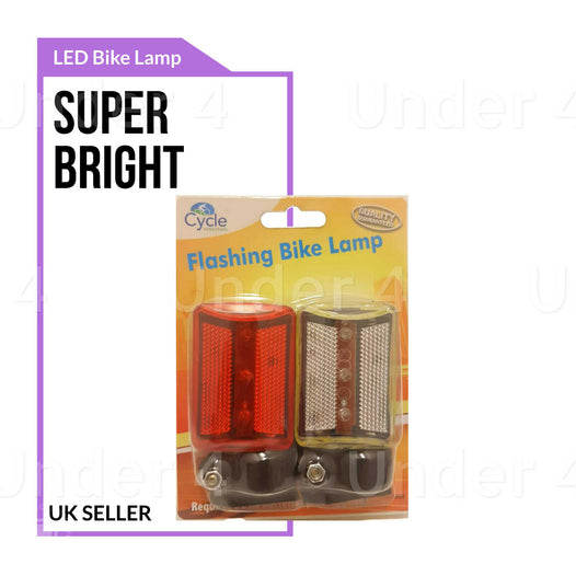 Bicycle LED Front Rear Light - UNDER4