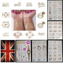 Team Bride Hen Party Do Night Favors Decor Temporary Tattoos Transfers Stickers - UNDER4