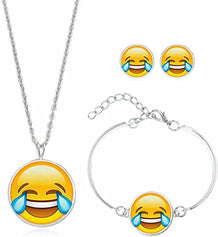 Emoji Bracelet, Necklace, Earrings - UNDER4