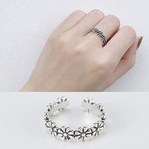 Retro Style Adjustable Flower Ring - UNDER4