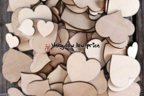 Wedding Mix Size Heart Shape wood Cardmaking Charms Confetti Table Decoration - UNDER4