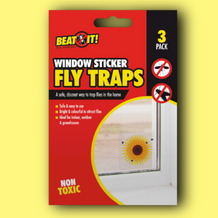 3 FLY TRAPS WINDOW STICKER - UNDER4