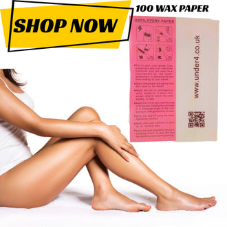 Depilatory Paper Waxing WAX Strips - UNDER4