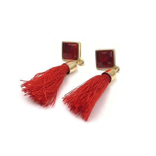 Square Tassel Earrings - UNDER4