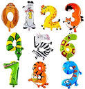 Animal Balloon Number Foil - UNDER4