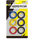 Assorted PVC Tape - 6pc - UNDER4