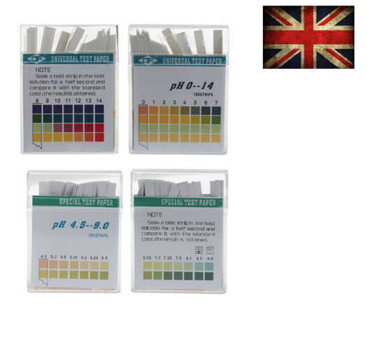 ALKALINE pH DUAL TEST STRIPS - UNDER4