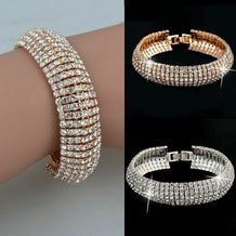 Rhinestone Cuff Bracelet Bangle - UNDER4
