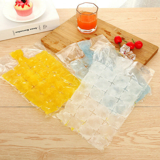 36 Clear Disposable Bag Ice Cube Bags - UNDER4