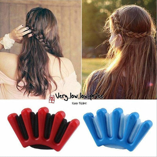 New Hot Wonder Sponge Hair Braider Twist Styling Bun Braid Tool Holder Clip DIY - UNDER4