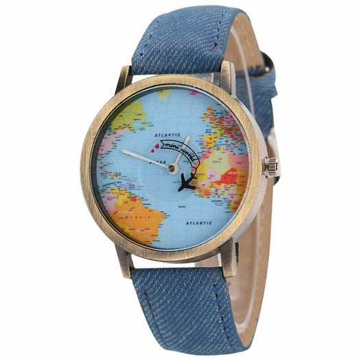 World Map Analog Quartz Watch - UNDER4