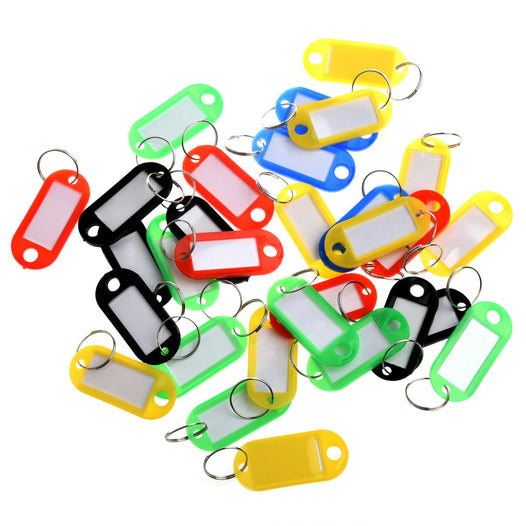 5 Mix Key Coloured Tags - UNDER4