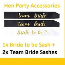 3pcs set Bride to Be Sash - UNDER4