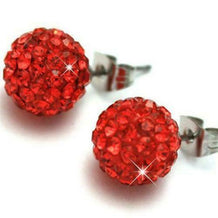 SHAMBALLA RED CRYSTALS EARRINGS - UNDER4
