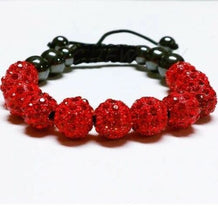 RED Shamballa Czech Crystal Bracelet - UNDER4