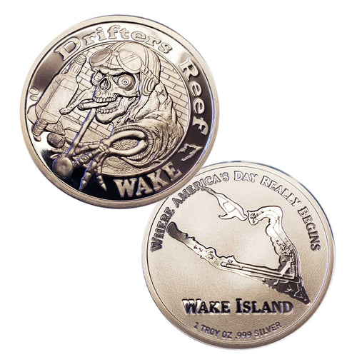 Wake Island Drifters Reef Pool Shark Akull Airman 999 Fine Silver, BEX Silver Coin Sales