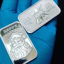 Load image into Gallery viewer, BEXCoinMinting Vintage Golden State Mint Santa Silver Art Bar