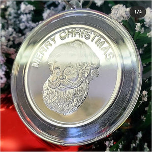 Merry Christmas Vintage Golden State Mint Catalog designs paired to create a very special silver art round for the 2020 Christmas Season