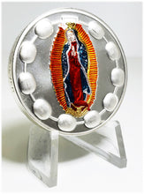Load image into Gallery viewer, 999 Silver 2 Oz Guadalupe Pocket Rosary Hand Enameled-BEX Coin Minting