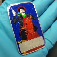 Load image into Gallery viewer, Vintage Pancho Villa Enameled 1 Troy Ounce Silver Art Bar
