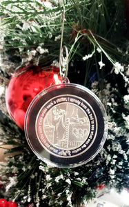 Christmas Ornament packaging of Twas The Night Before Christmas Silver Art rounds by BEX Coin Minting