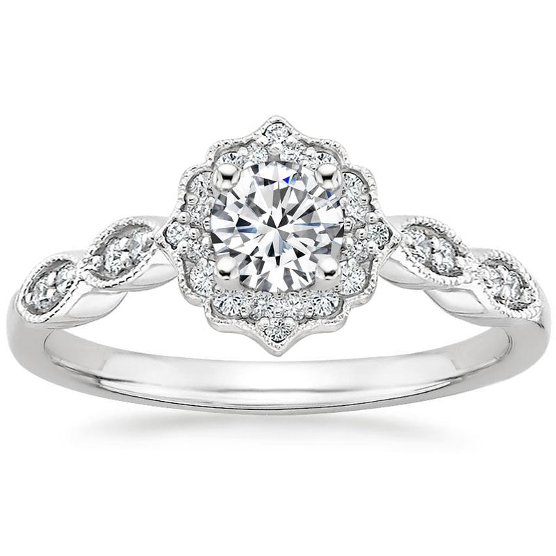 Anillo De Diamantes Halo Royal - KONSENS