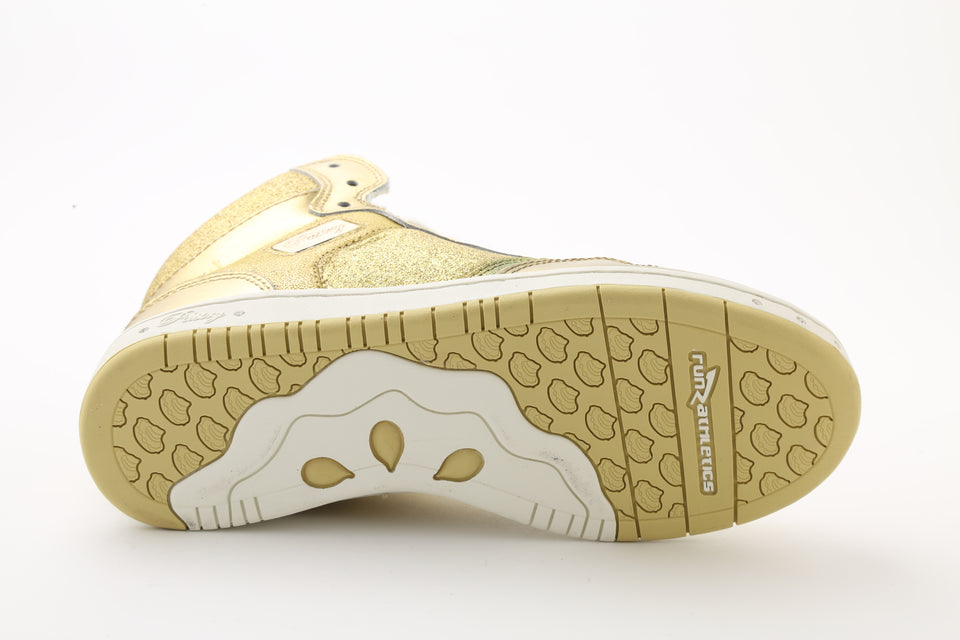 Pastry Glam Pie Glitter Youth Sneaker in Gold