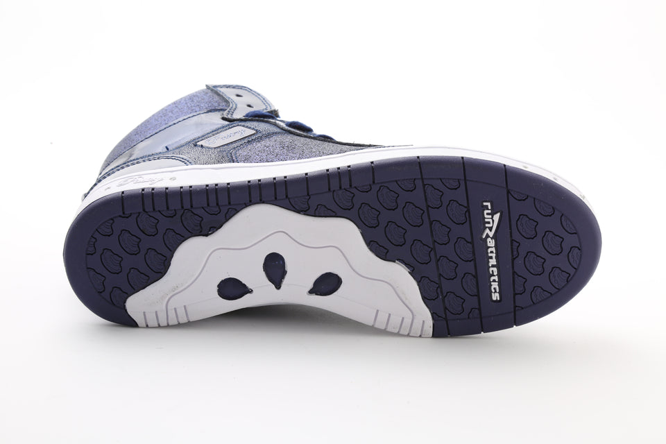 Pastry Glam Pie Glitter Adult Dance Sneaker in Navy