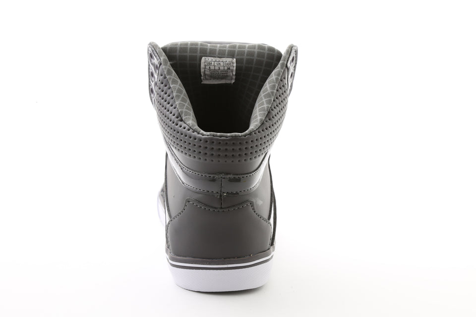 Pastry Pop Tart Grid Youth Hip Hop Sneaker in Charcoal