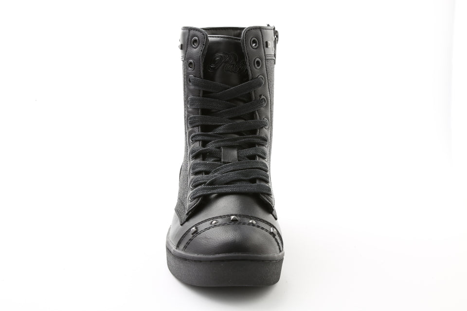 Pastry Military Glitz Adult Sneaker Boot in Black/Black