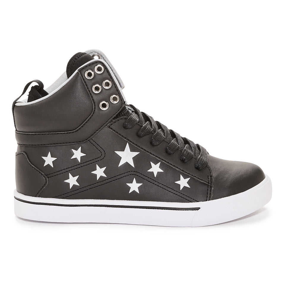 Pastry Pop Tart Star Adult Sneaker in Black/Silver