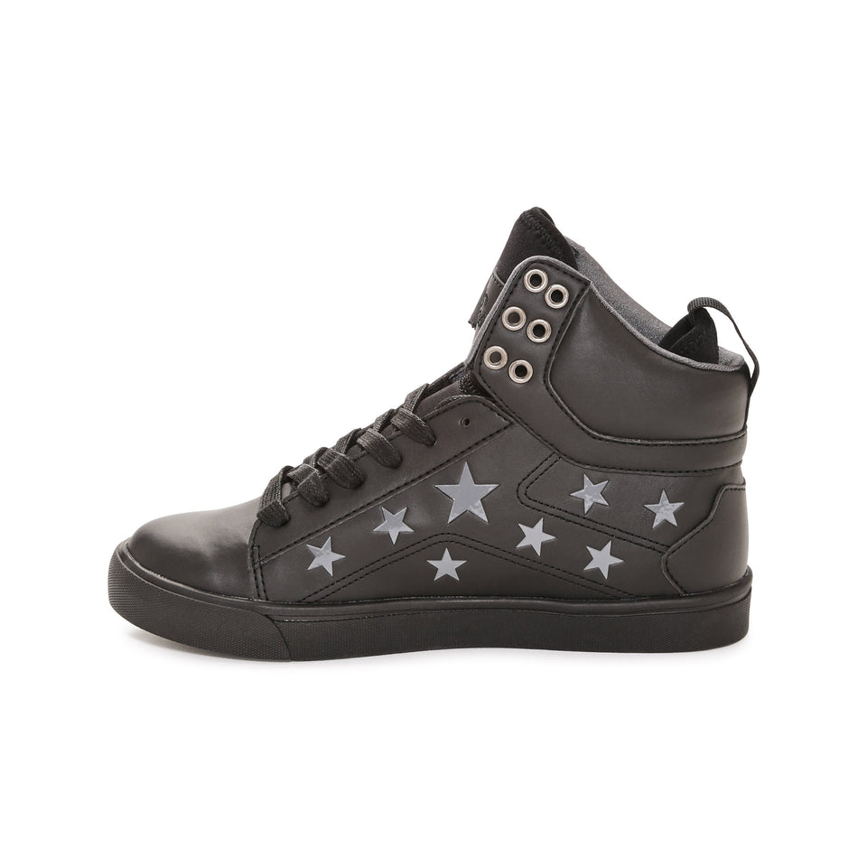 Pastry Pop Tart Star Adult Sneaker in Black/Black