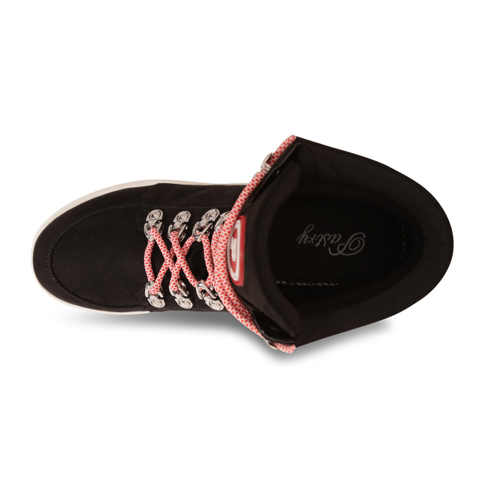 Pastry Riverside Adult Sneaker in Black/Red Image Number 6