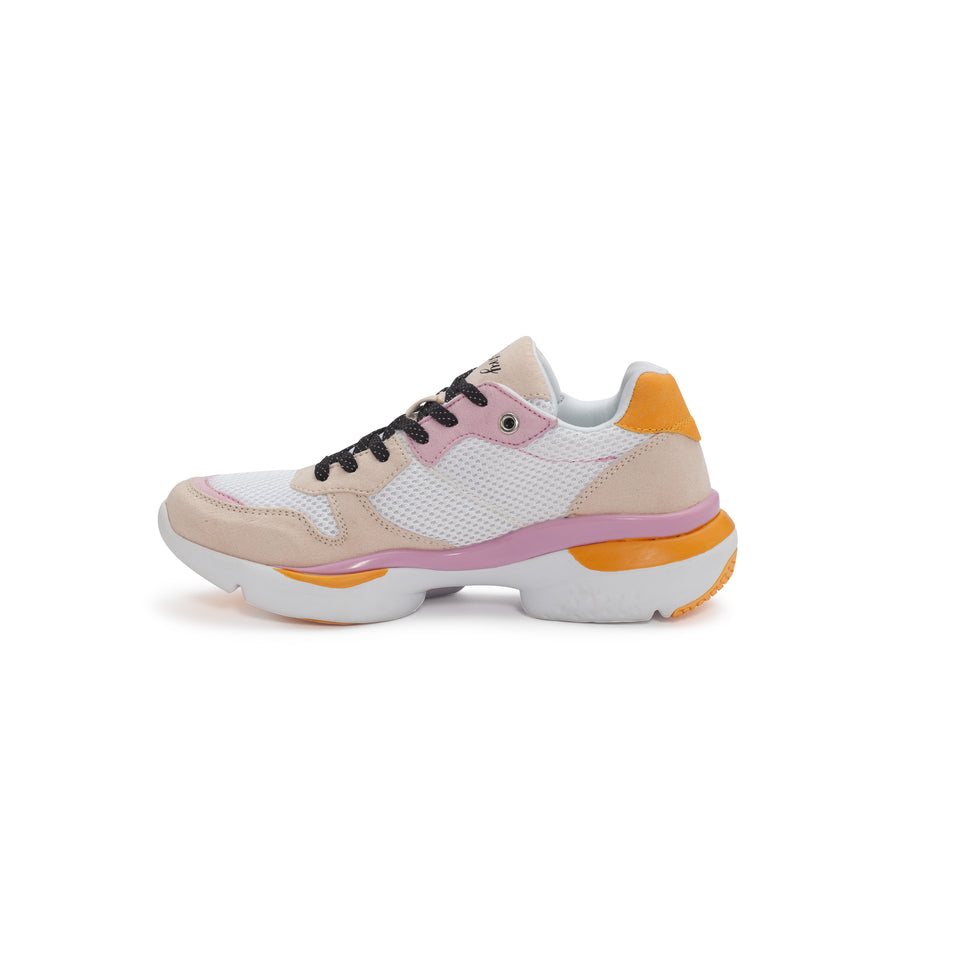 Pastry Adult Carla Sneaker in White/Salmon/Pink Image Number 1