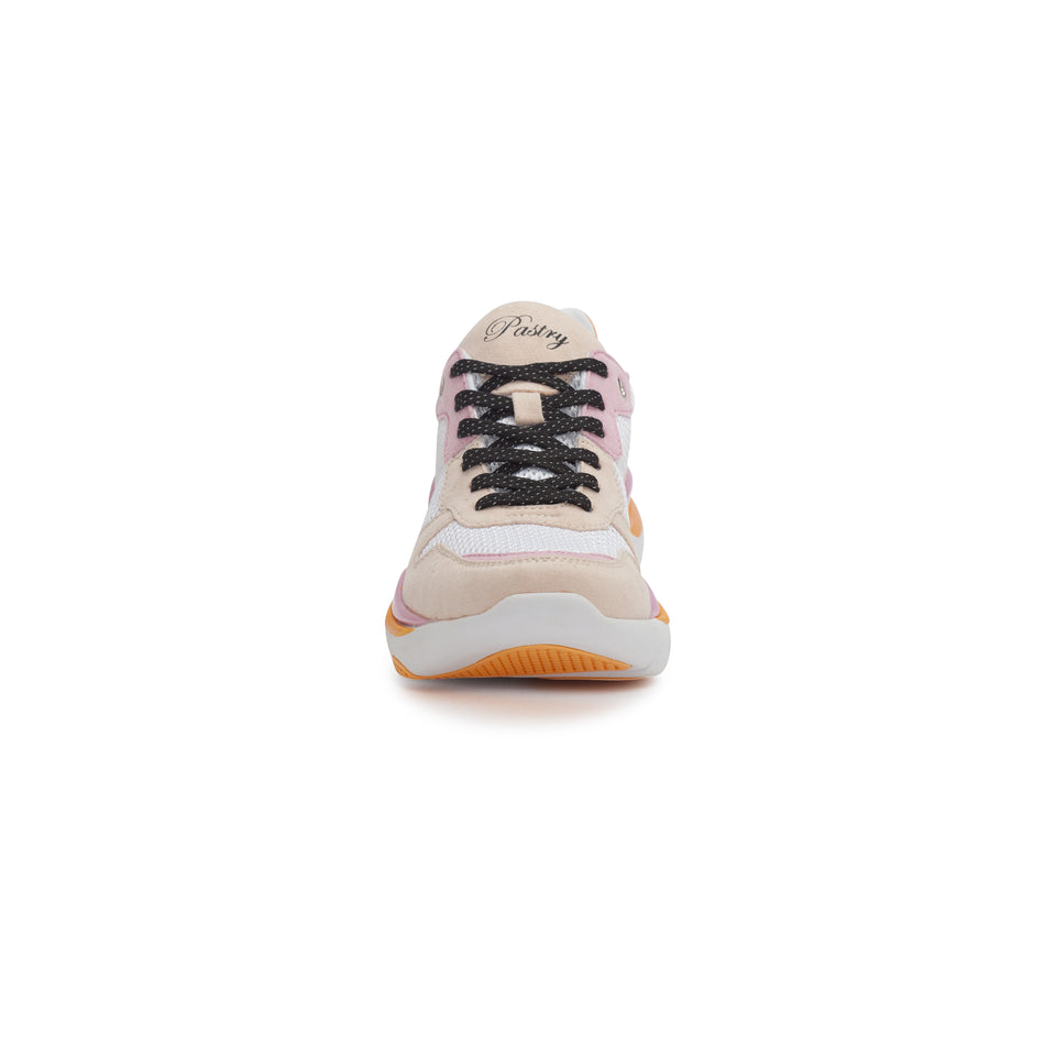 Pastry Adult Carla Sneaker in White/Salmon/Pink