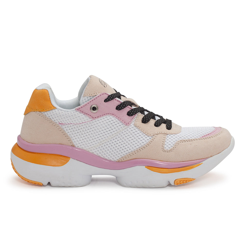 Pastry Adult Carla Sneaker in White/Salmon/Pink Image Number 0