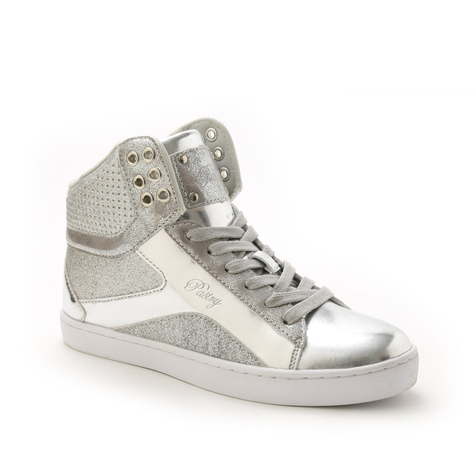 Pastry Pop Tart Glitter Adult Dance Sneaker in Silver