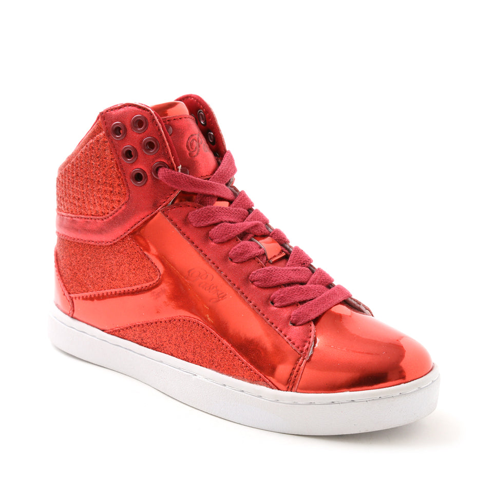 Pastry Pop Tart Glitter Adult Dance Sneaker in Red