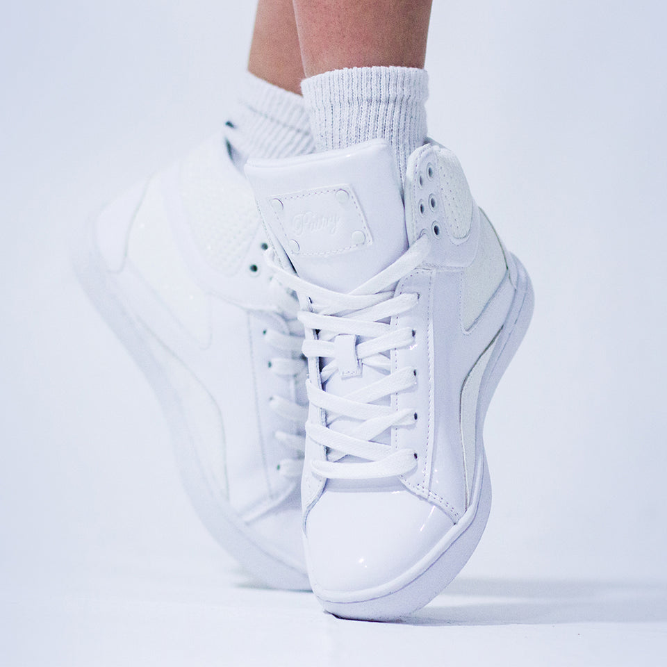 Pastry Pop Tart Glitter Youth Sneaker in White