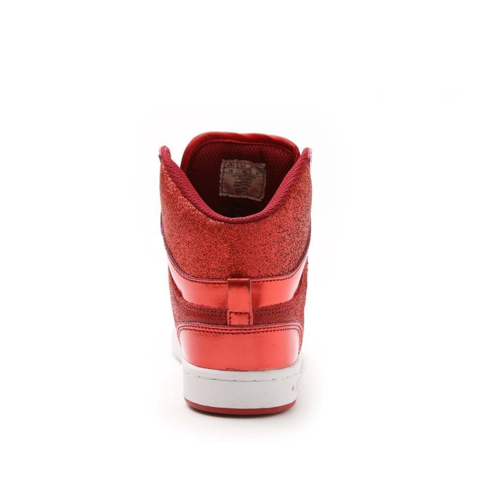 Pastry Glam Pie Glitter Youth Dance Sneaker in Red