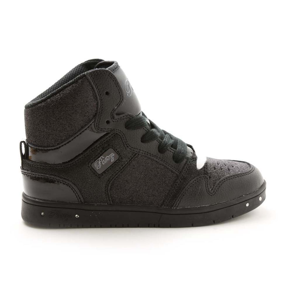 Pastry Glam Pie Glitter Youth Sneaker in Black/Black