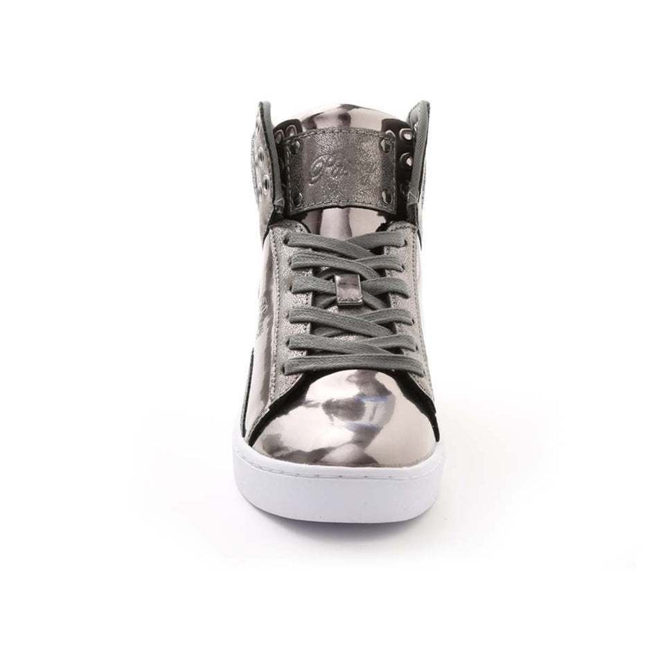 Pastry Pop Tart Glitter Youth Dance Sneaker in Gunmetal